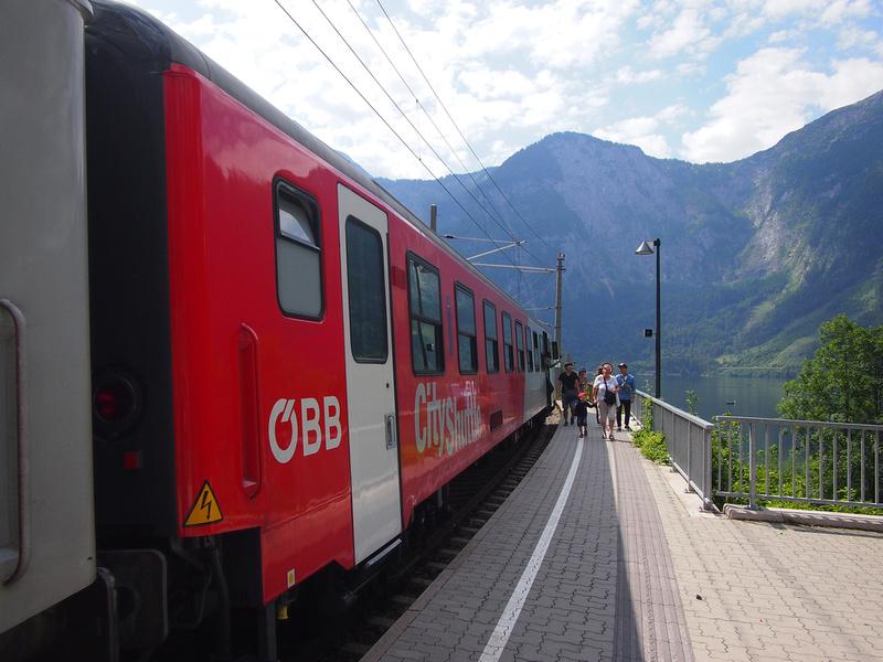 Train at Hallstatt, Austria