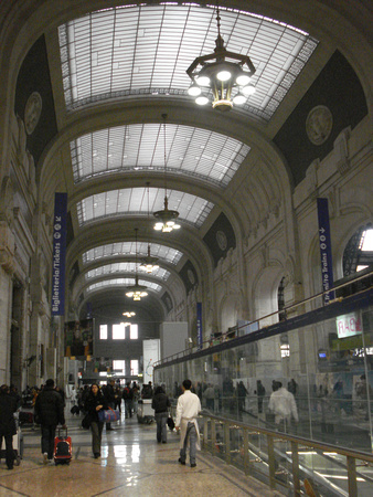 Milano Centrale train station hall, Milan - Italy.
