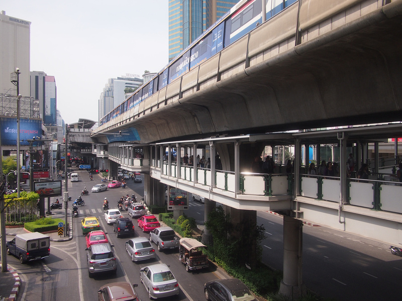 BTS Skytrain at Asok