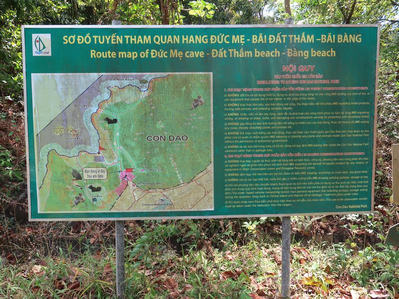 Map to Bang Beach