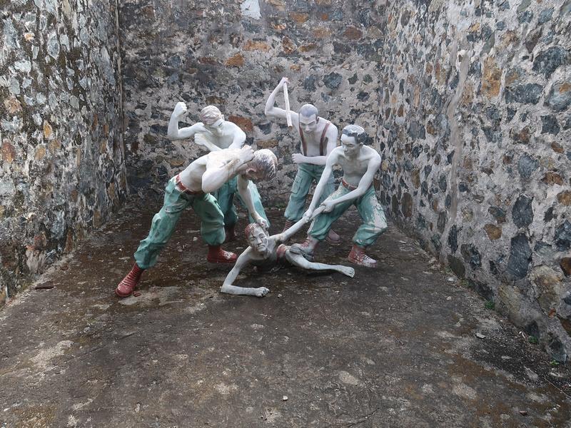 Beating prisoner