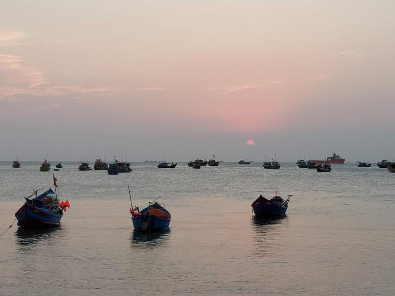 Sunset at Front Beach, Vung Tau