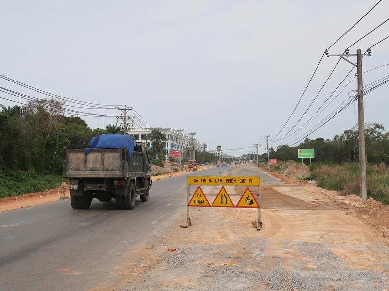 Road widening work