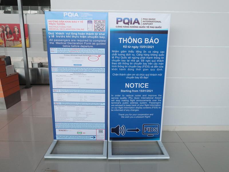 Phu Quoc International Airport quiet notice