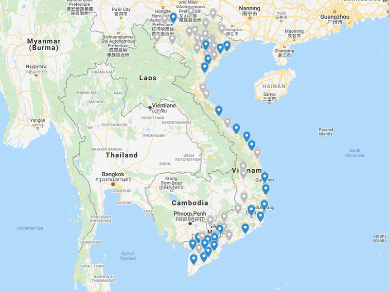Visiting every province in Vietnam