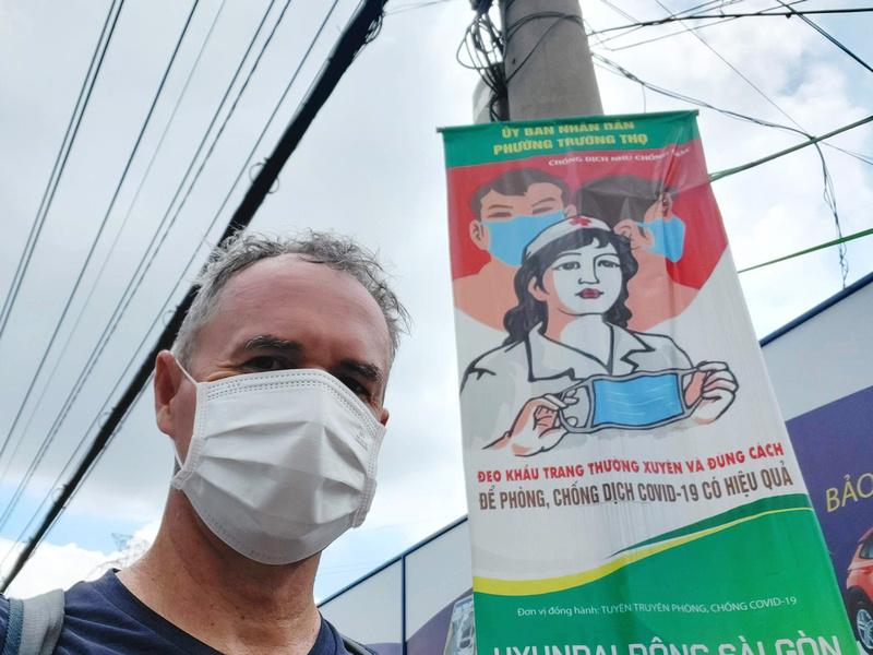 Masking up in Saigon