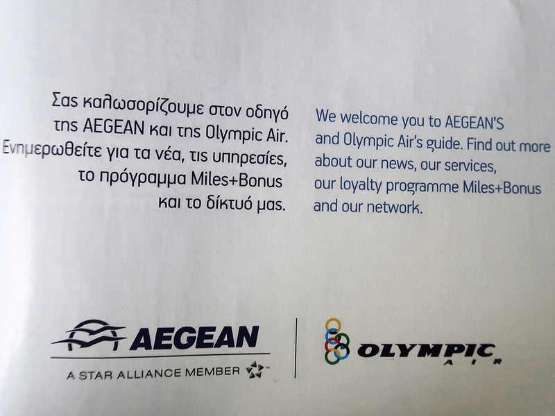 Aegean and Olympic Air