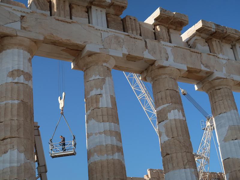 Parthenon worker