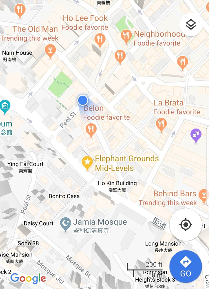 Google map of Hong Kong