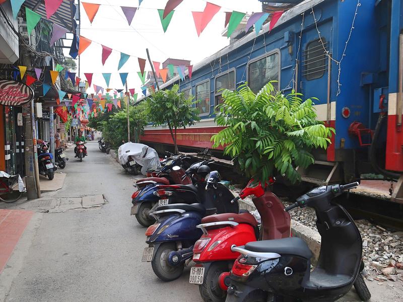 Train in alley