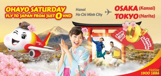 VietJet Air 0VND Japan promotion
