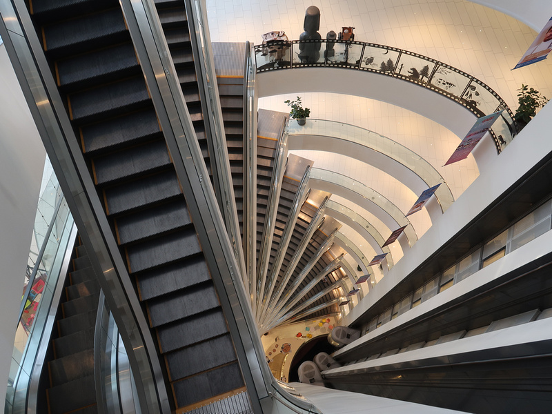 Mall escalators at 57 Wufu 3rd Road