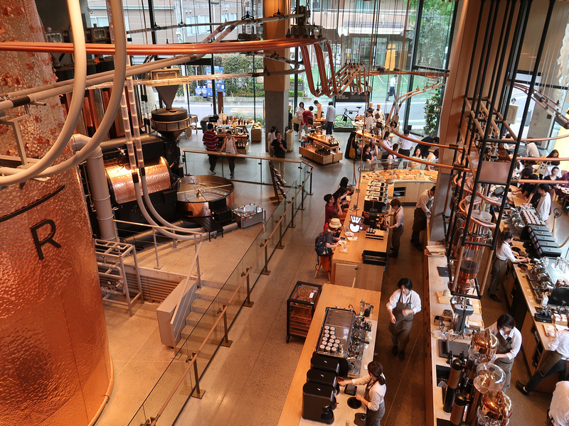 Starbucks Reserve Roastery Tokyo - the world's largest Starbucks