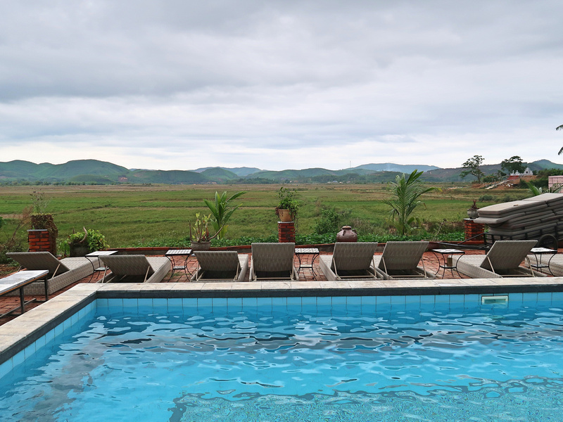 Farmstay pool view