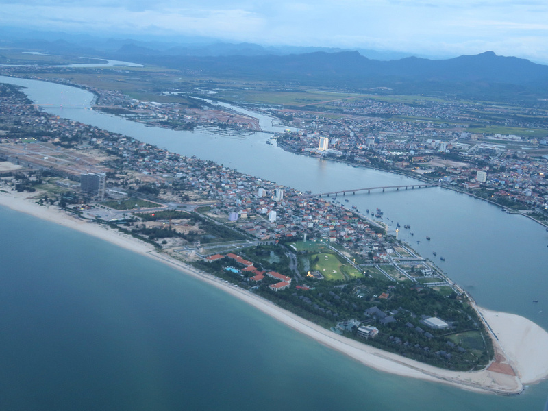 Aerial view of Dong Hoi