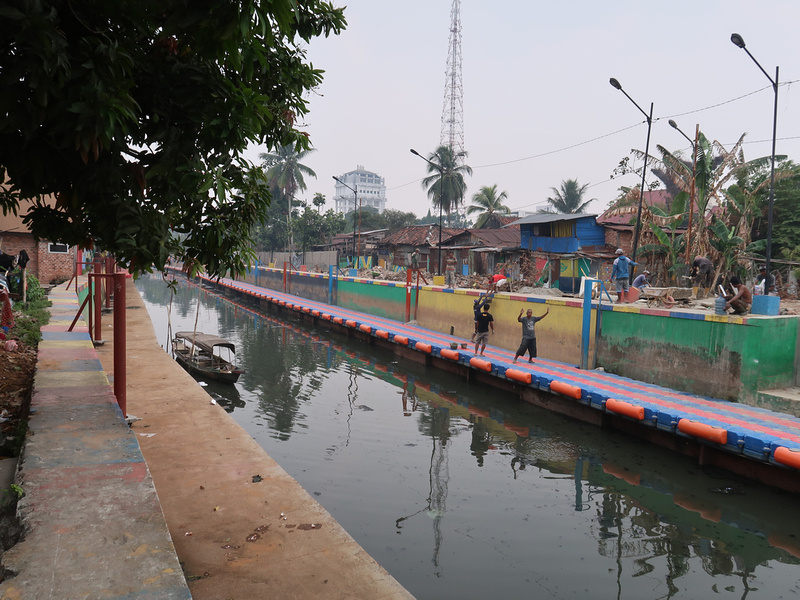 New canal walkway