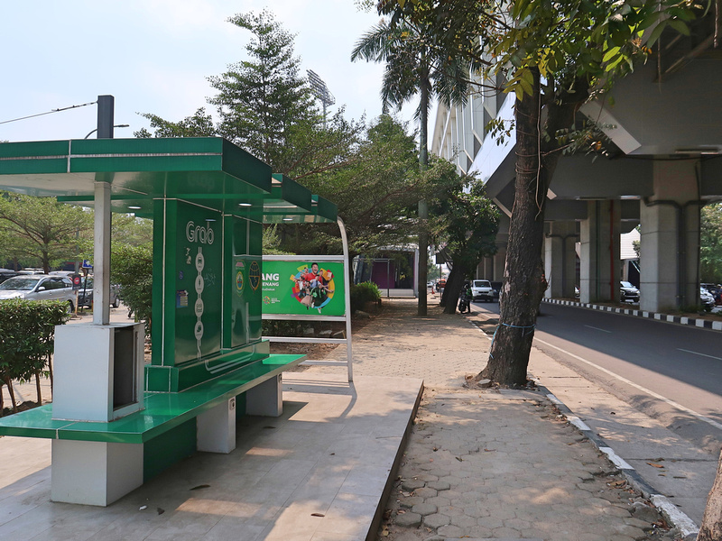 Grab station at Bumi Sriwijaya