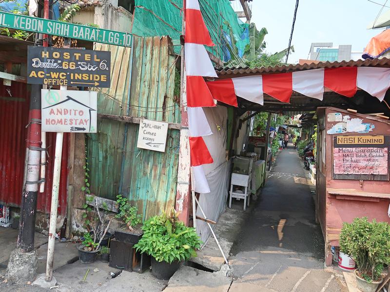 Hostel alley off Jalan Jaksa
