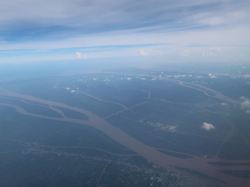 Flying over the Mekong Delta