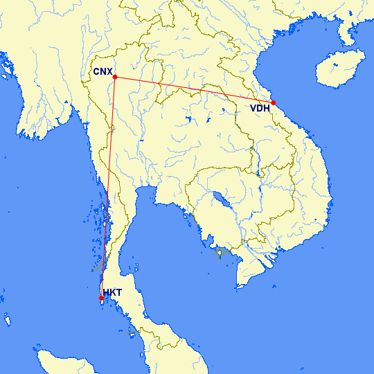 Chiang mai to Phuket and Dong Hoi