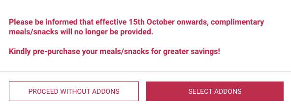 No more free meals