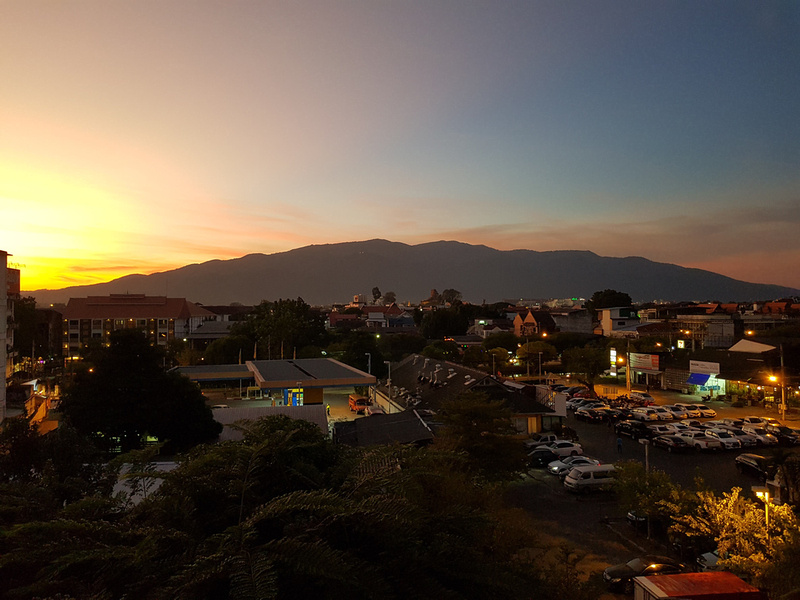 Sunset view from Royal Guesthouse