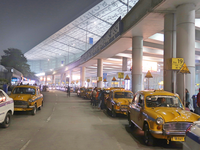 Airport taxi rank
