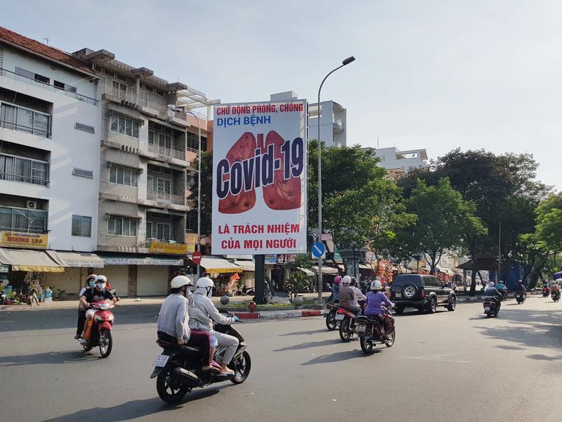 Covid poster in Saigon