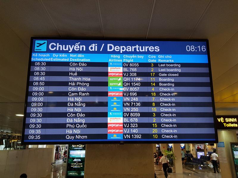 Domestic- departures