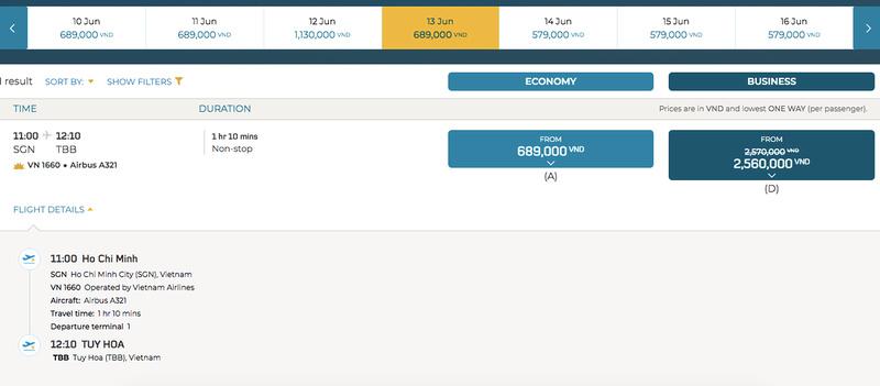 SGN-TBB flights