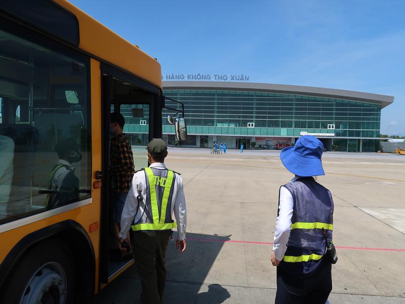 Bus to terminal
