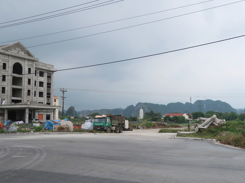 Trang An as viewed from the Xuan Thanh urban area