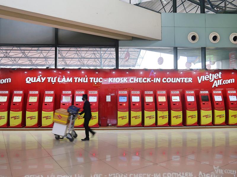 Vietjet Kiosk Check-in
