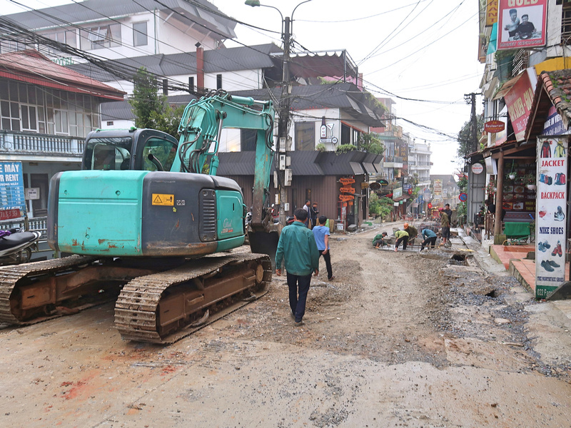 Fansipan road works