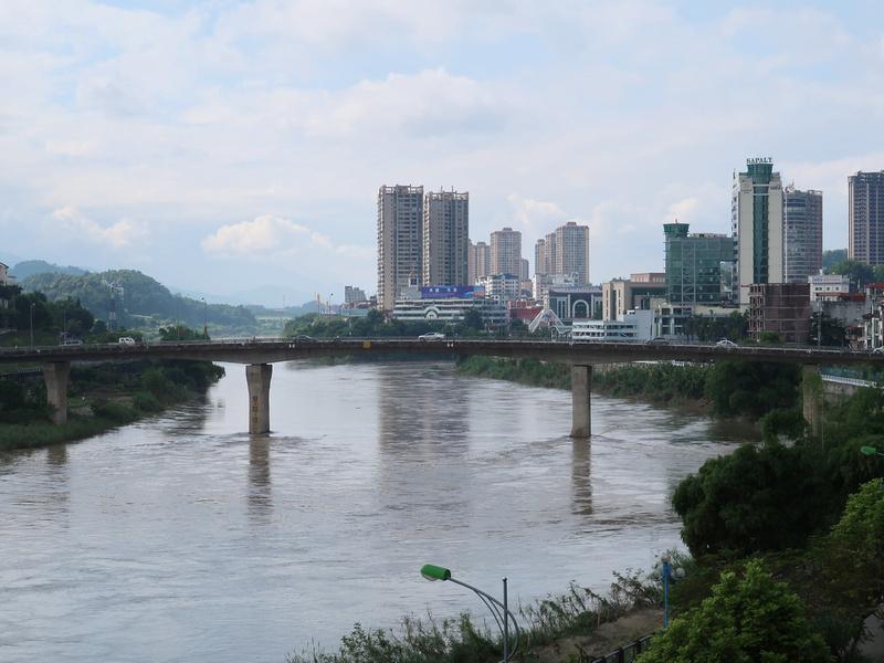 China and Vietnam skyline