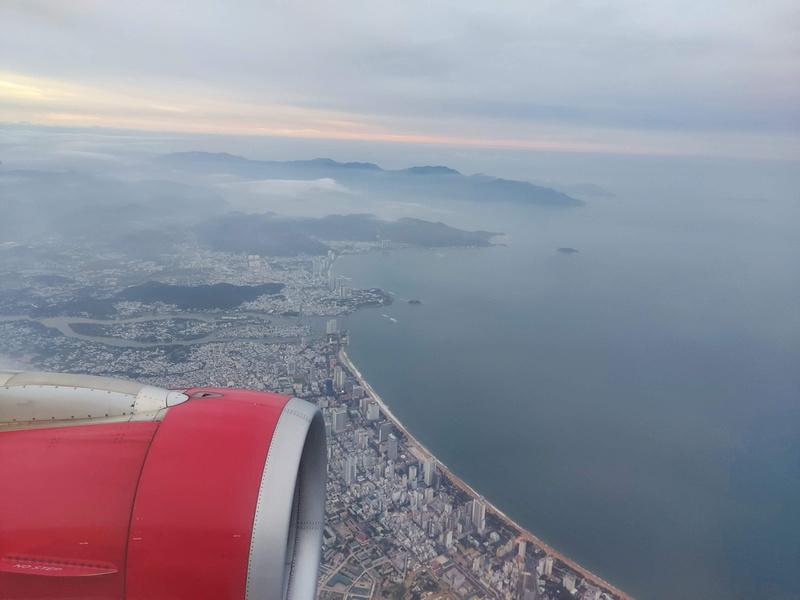 Flying over Nha Trang