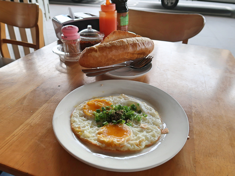 Banh mi breakfast
