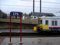 Spa train station platform, Spa - Belgium.