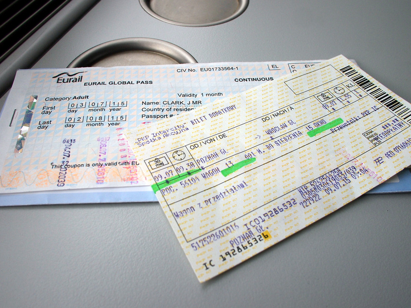 Eurail Pass with reservation ticket