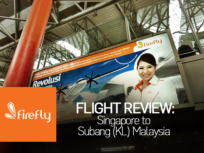 Flight Review: Firefly - Singapore to Subang (KL) Malaysia
