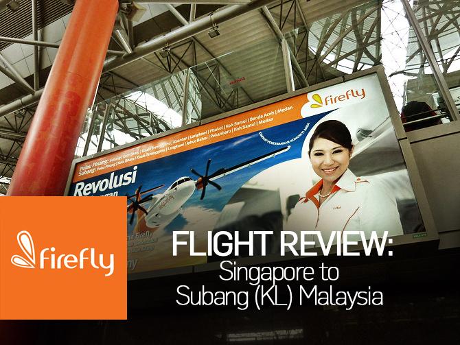 Flight Review: Firefly - Singapore to Subang (KL) Malaysia