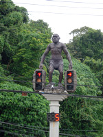 Manut Boraan (ancient man) traffic lights, Krabi - Thailand.