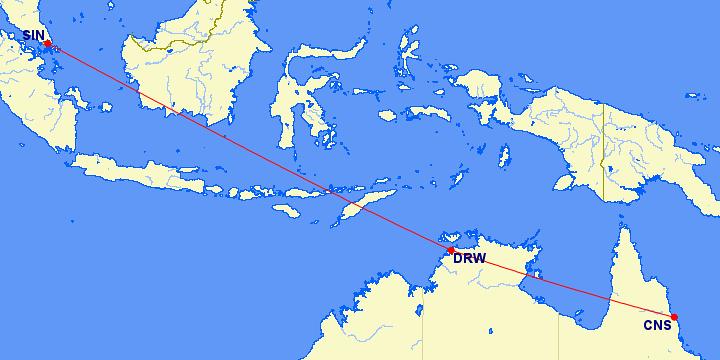 Singapore - Darwin - Cairns