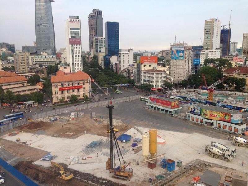 Ben Thanh roundabout April 2017