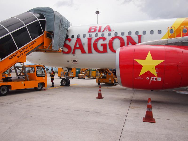 Vietjet Air Bia Saigon
