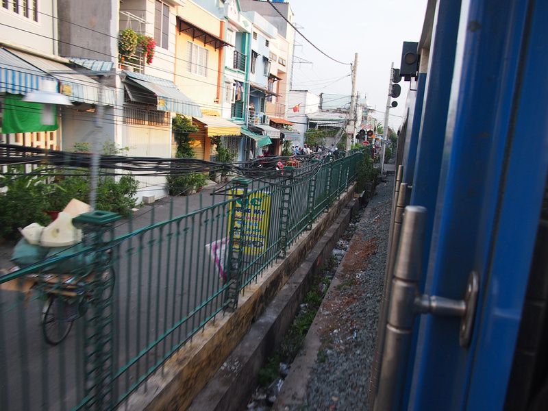Rail line through Ho Chi Minh City