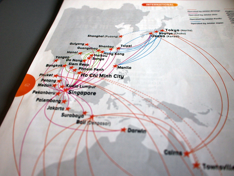 Jetstar Asia route map