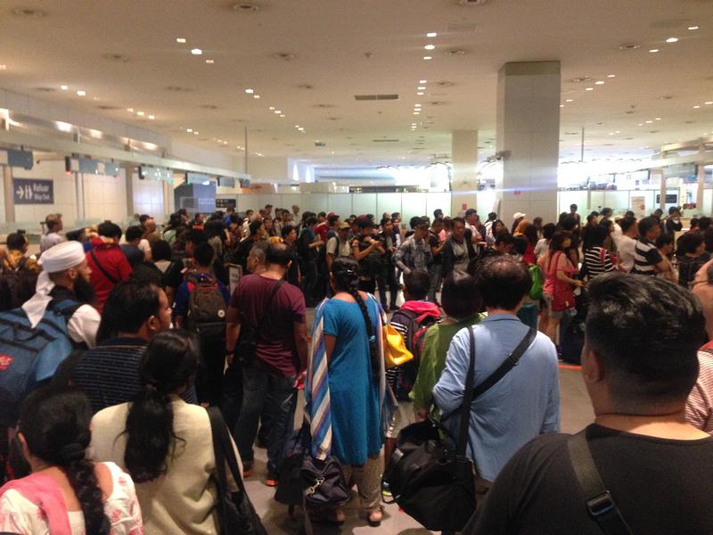 KUL immigration queue