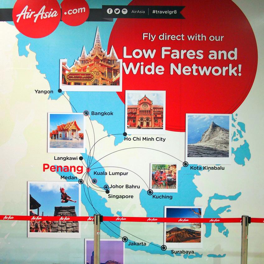 AirAsia Penang destinations