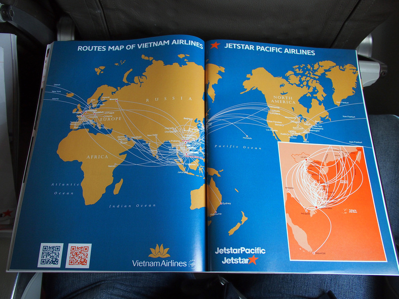 Vietnam airlines-Jetstar Pacific Route map